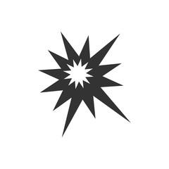 Explosion icon flat