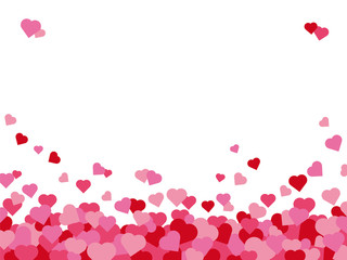 Valentines Day hearts background with copy space