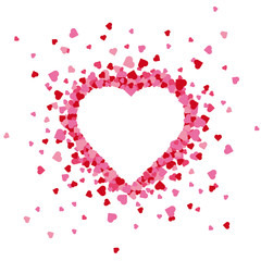 Exploding heart valentines day greeting card background
