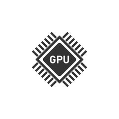 Gpu icon flat