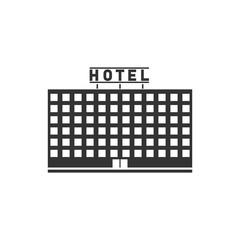 Hotel icon flat