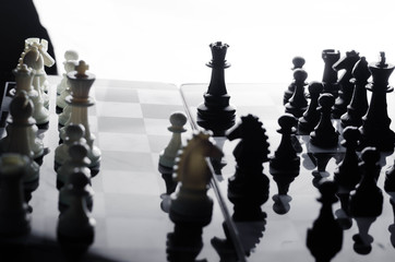 chess on background