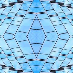 Symmetrical geometry / beautiful glass window background material