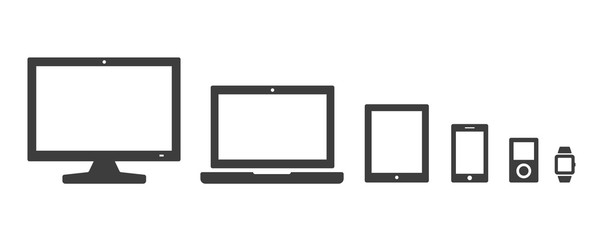 Electronic devices vector icon