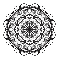 Abstract mandala graphic design decorative elements isolated on color   background for abstract concepts