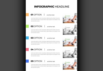 Infographic Paper with Placeholder Photos Layout