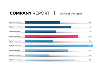 Company Report Infographic with Progress Bars Layout