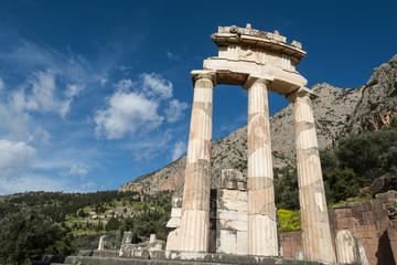 Circular temple of Sanctuary of Athena Pronaia at Delphi, Greece