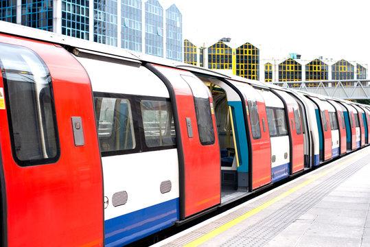 London underground tube train station