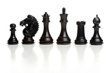 Black chess pieces