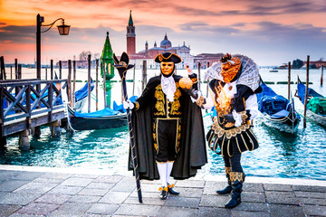 Venice Carnival 2018, Piazza San Marco, Italy