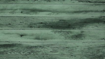 old shabby planks with cracks, green tint, grunge, texture, background