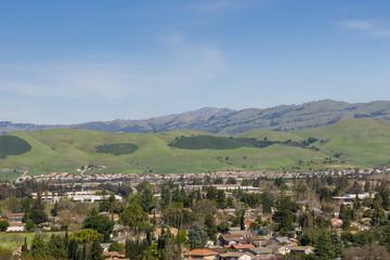 View towards Mount Hamilton from Santa Teresa park, San Jose, south San Francisco bay area, California