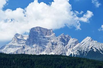 Monte Civetta mountains at daylight