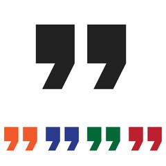 Quote vector icon
