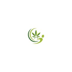 human of marijuana logo