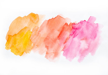 Watercolor background, design or basis for a decor, color stains
