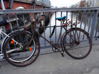 Rusty bycicle in Berlin. Germany