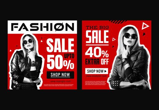 Fashion Sale Social Media Post Layout Set