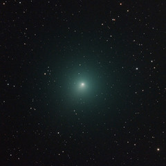 Christmas comet 46P/Wirtanen,a big close up, takenwith telescope and so many star in the back ground.