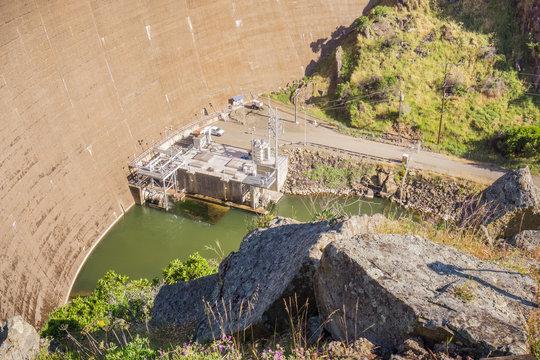 Aerial view of Monticello Dam, Napa Valley, California
