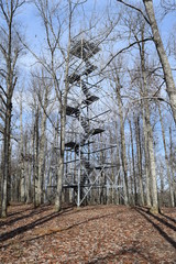 Observation tower in Big Hill Pond State Park Tennessee