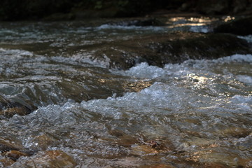 The image of a mountain stream.