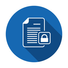 Document file lock locked page icon. Vector icon