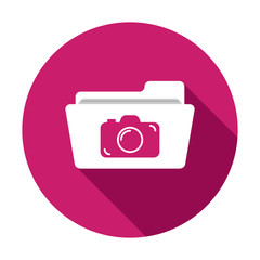 Camera folder image photo photos picture pictures icon. Vector icon