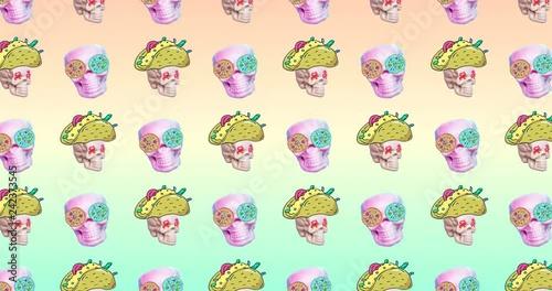 Minimal motion design  Fast food art  Fast food pattern