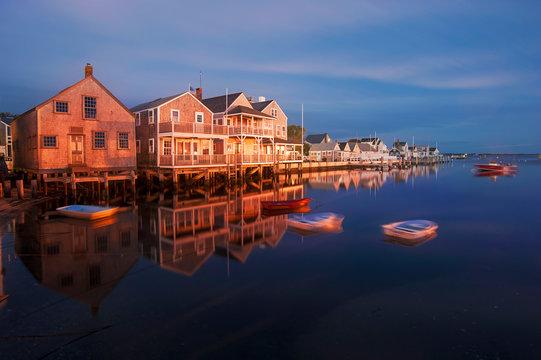 Harbor Houses Sunset Nantucket Island