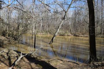Hatchie River at Davis Bridge Battlefield in Tennessee