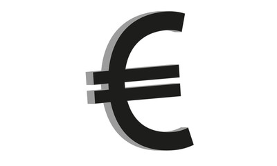 Euro currency symbol in 3d