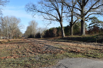 Norfolk Southern side tracks in Middleton Tennessee in winter