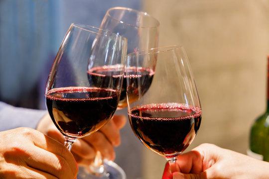 美味しそうな赤ワイン
