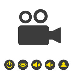 Cinema icon on white background.