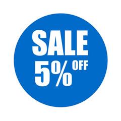 sale 5% off