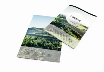 Brochure Layout with Mountain Imagery
