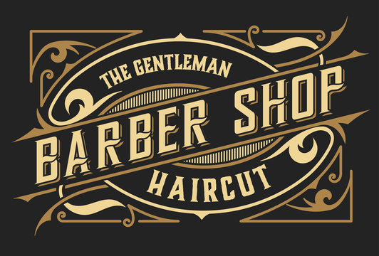 Barber shop logo. Western style