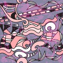 Abstract art seamless pattern. Graffiti street design.  Vector.