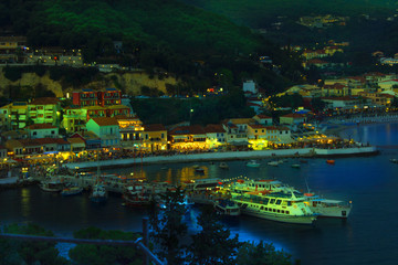 Greece - night in Parga - a tourist paradise in Greece