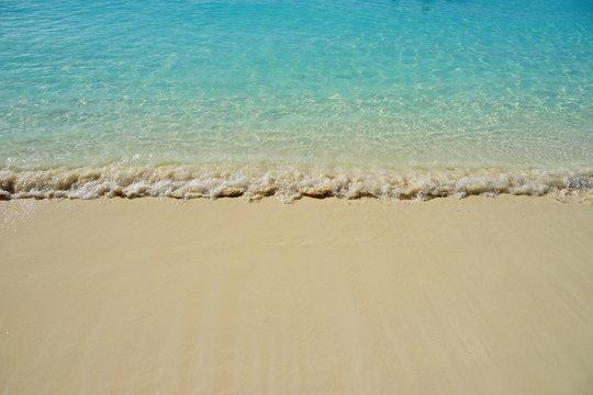 The beautiful Half Moon Bay island in Bahama and Caribbean sea ocean