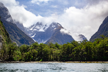 Milford Sound Mountains New Zealand Landscape