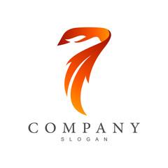 eagle + 7 creative logo design