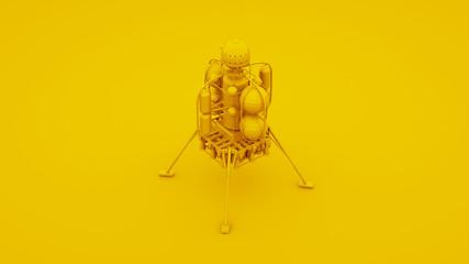 Yellow Space Lander. 3D illustration