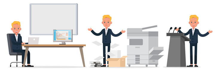 business people character vector design. Presentation in various action and working. no17