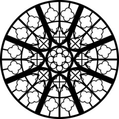 Reims, West, small, France, rose window