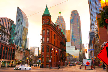 Deurstickers Toronto Gooderham building