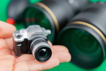一眼レフカメライメージ 交換レンズ