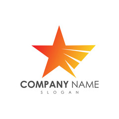wing star logo design, star + wing logo concept